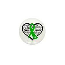 Gastroparesis Heart Ribbon Mini Button (100 pack)