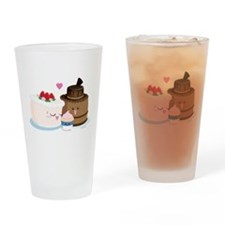 Cake Family Drinking Glass