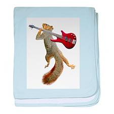 Squirrel Red Guitar baby blanket