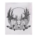 Whitetail Euro Mount Throw Blanket