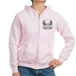 Whitetail Euro Mount Women's Zip Hoodie