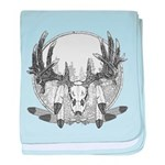 Whitetail Euro Mount baby blanket