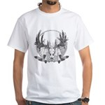 Whitetail Euro Mount White T-Shirt