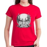 Whitetail Euro Mount Women's Dark T-Shirt