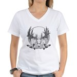 Whitetail Euro Mount Women's V-Neck T-Shirt