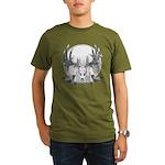 Whitetail Euro Mount Organic Men's T-Shirt (dark)