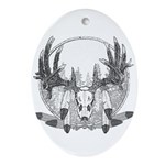 Whitetail Euro Mount Ornament (Oval)