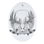 Whitetail Euro Mount Ornament (Oval)