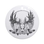 Whitetail Euro Mount Ornament (Round)