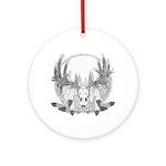 Whitetail Euro Mount Ornament (Round)