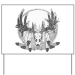 Whitetail Euro Mount Yard Sign