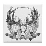 Whitetail Euro Mount Tile Coaster