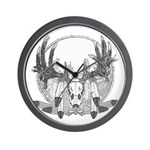 Whitetail Euro Mount Wall Clock