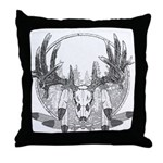 Whitetail Euro Mount Throw Pillow