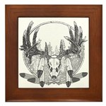 Whitetail Euro Mount Framed Tile