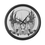 Whitetail Euro Mount Large Wall Clock