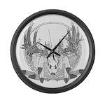 Whitetail Euro Mount Large Wall Clock