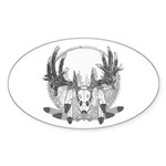 Whitetail Euro Mount Sticker (Oval 10 pk)