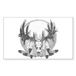 Whitetail Euro Mount Sticker (Rectangle 50 pk)