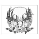 Whitetail Euro Mount Small Poster