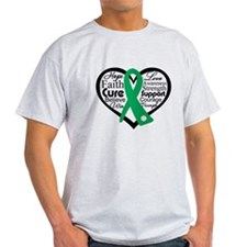 Liver Disease Heart Ribbon T-Shirt