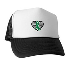 Liver Disease Heart Ribbon Cap