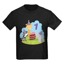 1st Birthday Zoo Animals T