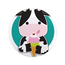 "Cow Ice Cream 3.5"" Button (100 pack)"