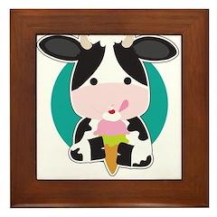 Cow Ice Cream Framed Tile