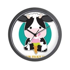 Cow Ice Cream Wall Clock