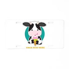 Cow Ice Cream Aluminum License Plate