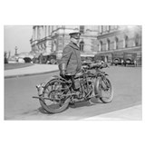 Motorcycle Police Officer, 1924.