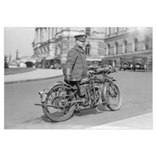 Motorcycle Police Officer, 1922