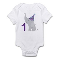 1st Birthday Elephant Infant Bodysuit