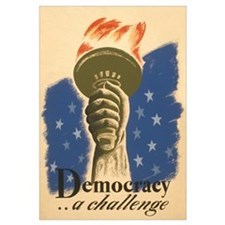 Democracy Torch Vintage Poste