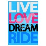 Cute Live to ride Wall Art