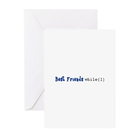 Best Friends while(1) Greeting Cards (Pk of 20)