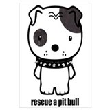 Cute Pitbull designs Wall Art