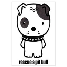 Funny American pit bull terrier Wall Art