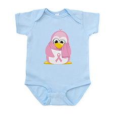Breast Cancer Pink Penguin Infant Bodysuit