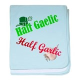 Half garlic half gaelic Baby Blankets