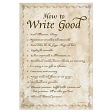 How to Write Good 23x35 , Calligraphy