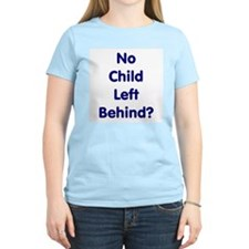 No Child Left Behind Women's Pink T-Shirt