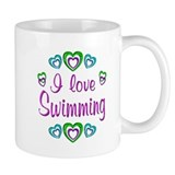 I Love Swimming Small Mugs