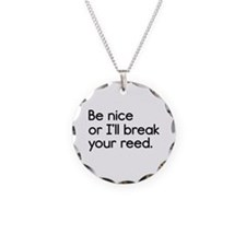 Break Your Reed Necklace Circle Charm