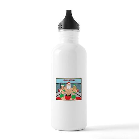 MMA Santa & Octagon Girls Stainless Water Bottle 1