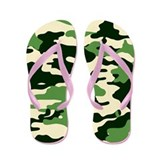 GREEN CAMO Flip Flops