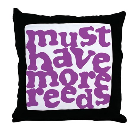 More Reeds Throw Pillow