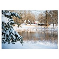 Tranquil Rural Snow Scene
