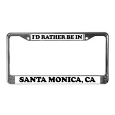 Rather be in Santa Monica License Plate Frame
